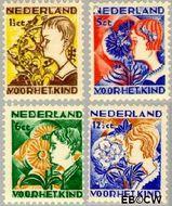 Nederland NL 248#251  1932 Kinderen en bloemen   cent  Gestempeld