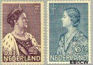 Nederland NL 265#266  1934 Nationaal Crisis Comité   cent  Gestempeld