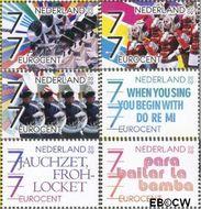 Nederland NL 2652#2657  2009 Muziek in Nederland  cent  Gestempeld