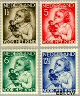 Nederland NL 270#273  1934 Kind met pop   cent  Gestempeld