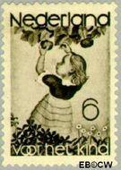 Nederland NL 281  1935 Appelplukkend meisje 6+4 cent  Gestempeld