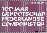 Nederland NL 2819  2011 Gen. Ned. Componistenbond 1 cent  Gestempeld