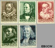 Nederland NL 305#309  1938 Bekende personen   cent  Postfris