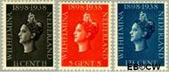 Nederland NL 310#312  1938 Koningin Wilhelmina- Regeringsjubileum   cent  Gestempeld