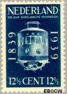Nederland NL 326  1939 Spoorwegjubileum 12½ cent  Postfris