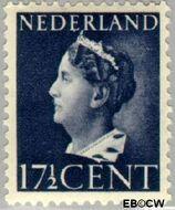 Nederland NL 338  1946 Wilhelmina- Type 'Konijnenburg' 17½ cent  Gestempeld