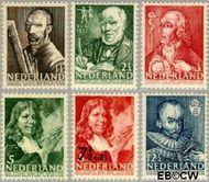 Nederland NL 350#355  1940 Bekende personen   cent  Gestempeld