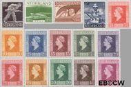 Nederland NL 428#442  1944 Bevrijding   cent  Gestempeld