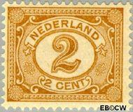 Nederland NL 54  1899 Cijfer type 'Vürtheim' 2 cent  Gestempeld