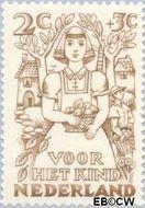 Nederland NL 544  1949 Jaargetijden 2+3 cent  Gestempeld