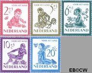 Nederland NL 563#567  1950 Kind en dieren   cent  Postfris