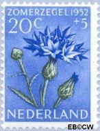 Nederland NL 587  1952 Bloemen 20+5 cent  Gestempeld
