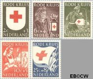 Nederland NL 607#611  1953 Rode Kruis   cent  Gestempeld