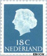 Nederland NL 620  1965 Koningin Juliana- Type 'En Profile' 18 cent  Gestempeld