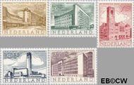 Nederland NL 655#659  1955 Gebouwen   cent  Gestempeld