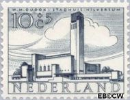 Nederland NL 658  1955 Gebouwen 10+5 cent  Postfris