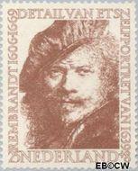 Nederland NL 675  1956 Rembrandt 25+8 cent  Postfris