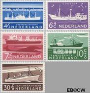 Nederland NL 688#692  1957 Schepen   cent  Gestempeld