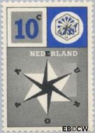 Nederland NL 700  1957 Windroos 10 cent  Gestempeld