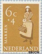 Nederland NL 708  1958 Klederdrachten 6+4 cent  Gestempeld
