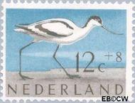 Nederland NL 755  1961 Vogels 12+8 cent  Gestempeld