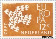 Nederland NL 757  1961 C.E.P.T.- Duiven in vlucht 12 cent  Postfris