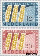 Nederland NL 784#785  1963 Anti-honger campagne U.N.O.   cent  Gestempeld