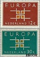 Nederland NL 800#801  1963 C.E.P.T.- Vierkant   cent  Gestempeld