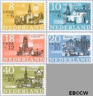 Nederland NL 842#846  1965 Steden   cent  Gestempeld
