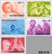 Nederland NL 870#874  1966 Levensstadia kind  cent  Gestempeld