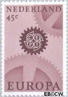 Nederland NL 883  1967 C.E.P.T.- Radarwerk 45 cent  Gestempeld