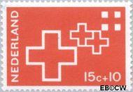 Nederland NL 890  1967 Rode Kruis 15+10 cent  Postfris