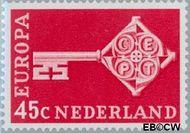 Nederland NL 907  1968 C.E.P.T.- Sleutel 45 cent  Gestempeld