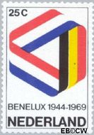 Nederland NL 930#  1969 BENELUX  cent  Gestempeld