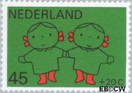 Nederland NL 936  1969 Kind en muziek 45+20 cent  Postfris