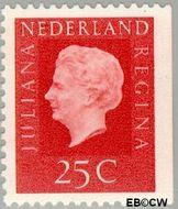 Nederland NL 939a  1969 Koningin Juliana- Type 'Regina' 25 cent  Postfris