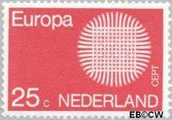 Nederland NL 971  1970 C.E.P.T.- Zon 25 cent  Gestempeld