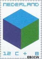 Nederland NL 978  1970 Kubus 12+8 cent  Gestempeld