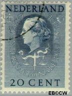 Nederland NL D37  1951 Cour Internationale de Justice 20 cent  Gestempeld
