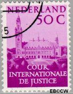 Nederland NL D43  1951 Cour Internationale de Justice 50 cent  Gestempeld