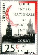 Nederland NL D46  1989 Cour Internationale de Justice 25 cent  Gestempeld