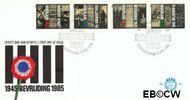 Nederland NL E227  1985 Verzet en bevrijding  cent  FDC zonder adres