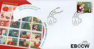 Nederland NL E447  2001 Kerstmotieven  cent  FDC zonder adres