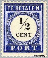 Nederland NL P13  1902 Portzegel ½ cent  Gestempeld