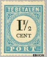 Nederland NL P4  1881 Portzegel 1½ cent  Gestempeld