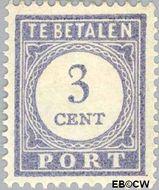 Nederland NL P48  1912 Portzegel 3 cent  Gestempeld