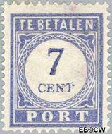 Nederland NL P53  1912 Portzegel 7 cent  Gestempeld