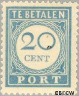 Nederland NL P58  1912 Portzegel 20 cent  Gestempeld