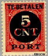Nederland NL P66  1924 Portzegel 5 op 1 cent  Gestempeld