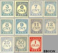 Nederland NL P69#P79  1921 Portzegel  cent  Gestempeld